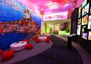 foto do salão principal da casa Veja Rio na FLIP