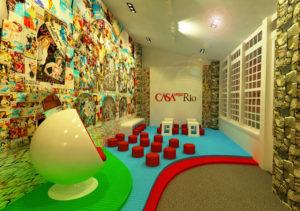 foto do espaço infantil da casa Veja Rio na Feira Internacional literária de Parati