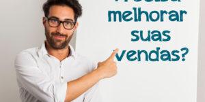 imagem de homem com quadro branco perguntando se você precisa melhorar suas vendas